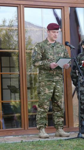 Slavnostni govornik polkovnik Slovenske vojske Uroš Paternus