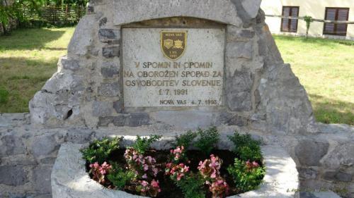 Obnovljen spomenik osamosvojitvi