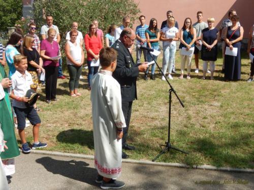 Drog in spomenik je blagoslovil namestnik vojaškega vikarja SV Milan Pregelj