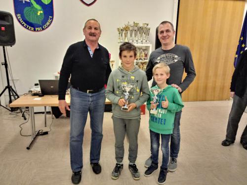 Najmlajša igralca briškule sta se dobro borila s starejšimi in izkušenimi igralci briškule in na koncu osvojila odlično 4 mesto.