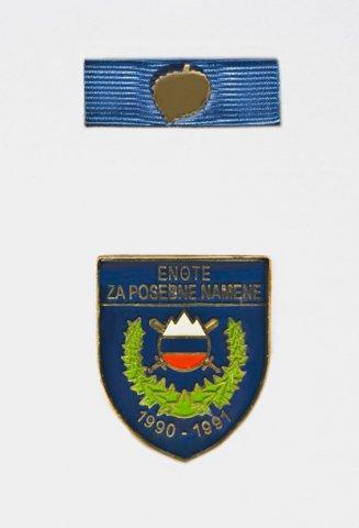 Spominski znak Enote za posebne namene 1990 do 1991 - Podeljeno je 23 znakov