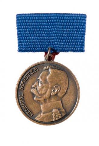 Bronasta medalja Generala Maistra - Podeljeno je 14 medalj