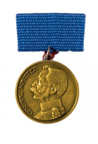 Zlata medalja Generala Maistra - Podeljena je 1 medalja