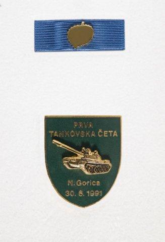 Prva tankovska četa Nova Gorica 30. 6. 1991 - Podeljeno je 45 znakov